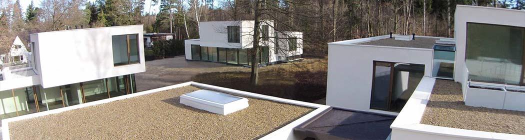 Architektur-Flugdrohne-Lufaufnahmen