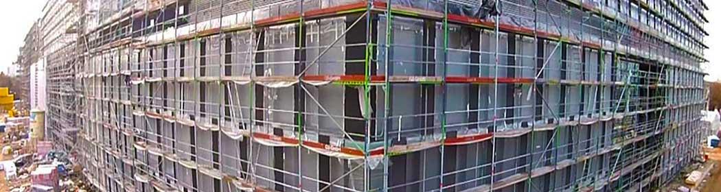 Bauwirtschaft-Luftfoto-Videografie dokumentiert Baufortschritte.